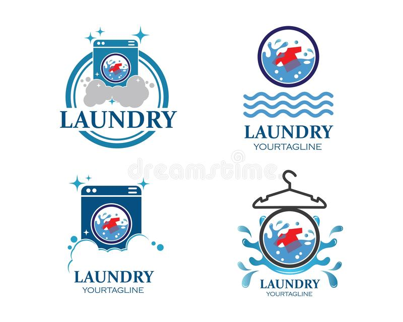 Laundry logo vector icon stock illustration