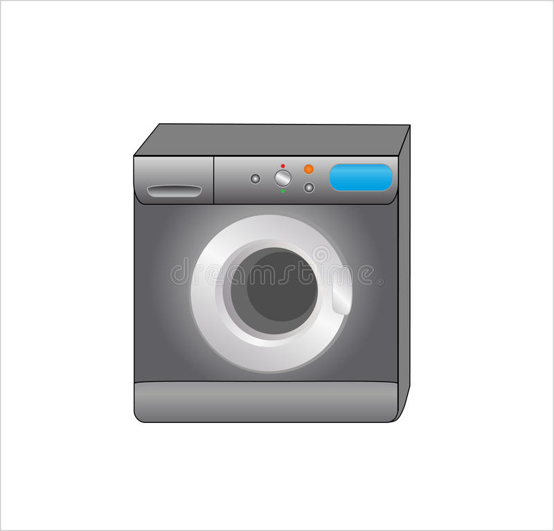 Download Laundry machine stock vector. Image of cleaning, household - 12004281