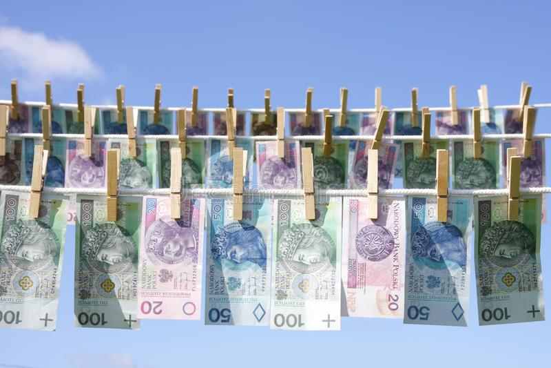 Laundry money stock images