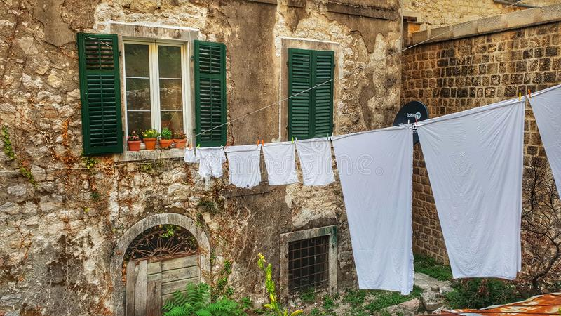 Laundry outdoor royalty free stock photography