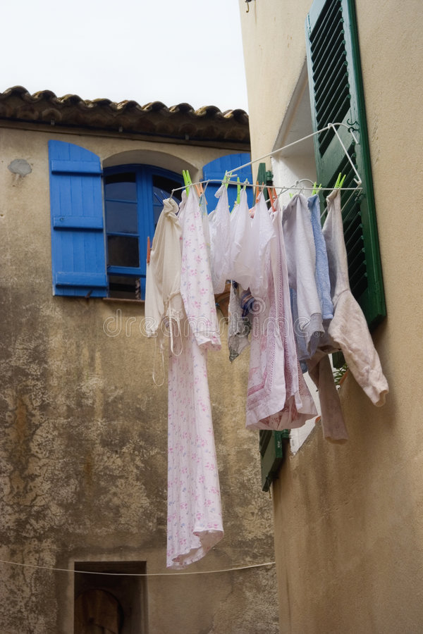 Laundry outdoors stock photos