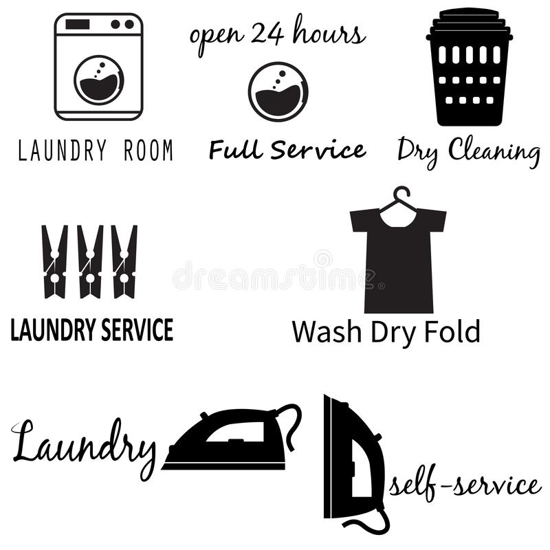 Laundry Room icon on white background. flat style. Laundry Machine icon for your web site design, logo, app, UI. set of  laundry. Logos. dry cleaning service vector illustration