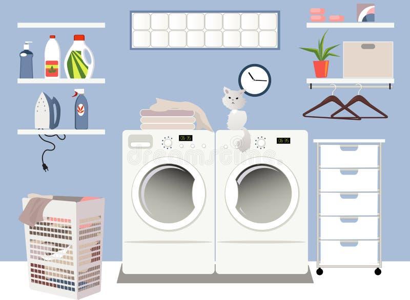 Laundry room stock illustration