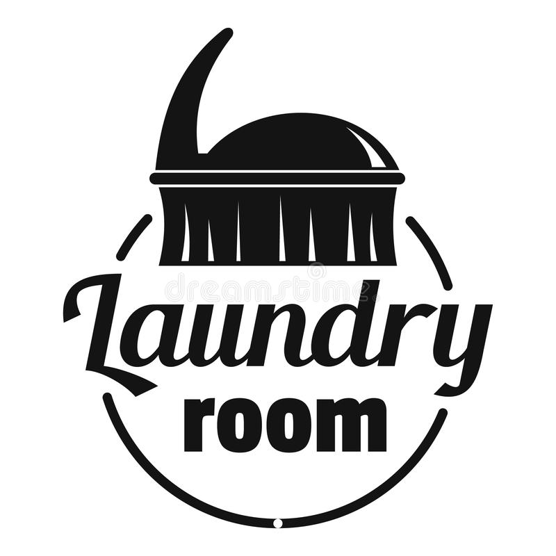 Laundry room logo, simple style vector illustration