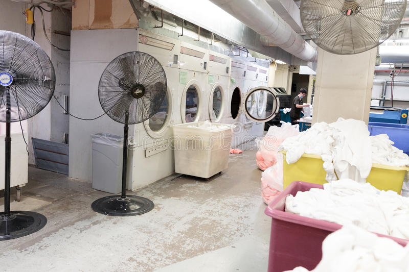 Laundry Room in The New Yorker Hotel, Manhattan royalty free stock photography