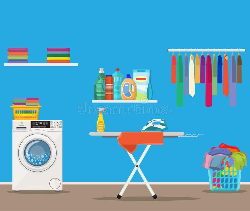 Laundry Ironing Business Stock Illustrations – 662 Laundry Ironing