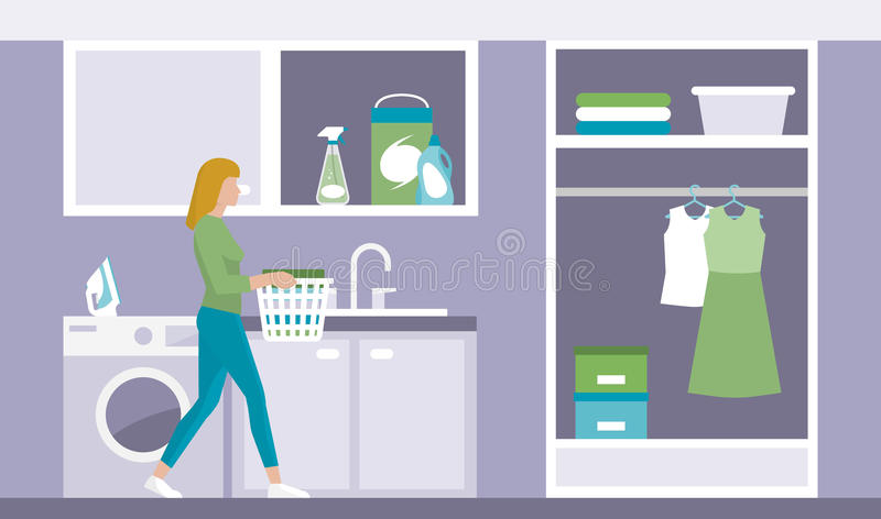 Laundry room royalty free illustration