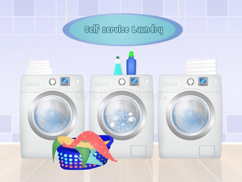 Laundry service. Cute illustration of Laundry service stock illustration