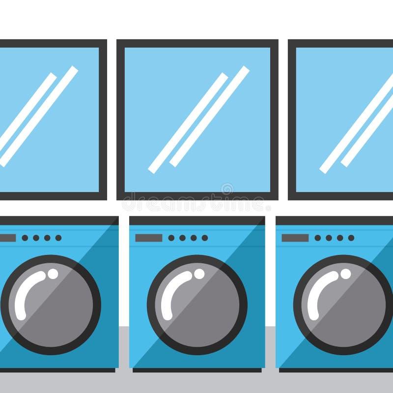 Laundry service. Design, vector illustration eps10 graphic royalty free illustration