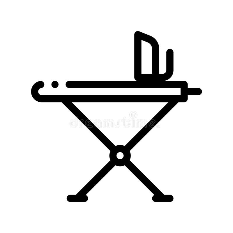 Laundry Service Ironing Equipment Vector Line Icon vector illustration