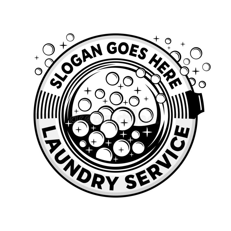 Laundry service logo. Wash company cleaning logo. Vector and illustration. Laundry service logo design template. Wash company cleaning logo. Laundry, cleaning vector illustration