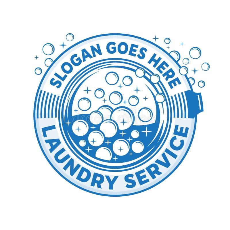 Laundry service logo. Wash company cleaning logo. Vector and illustration. Laundry service logo design template. Wash company cleaning logo. Laundry, cleaning royalty free illustration