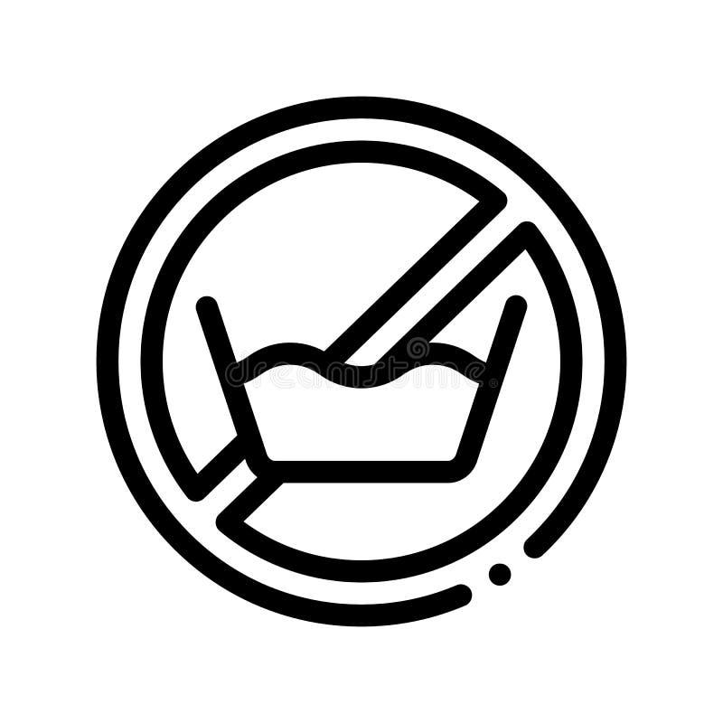 Laundry Service No-presoak Vector Thin Line Icon royalty free illustration