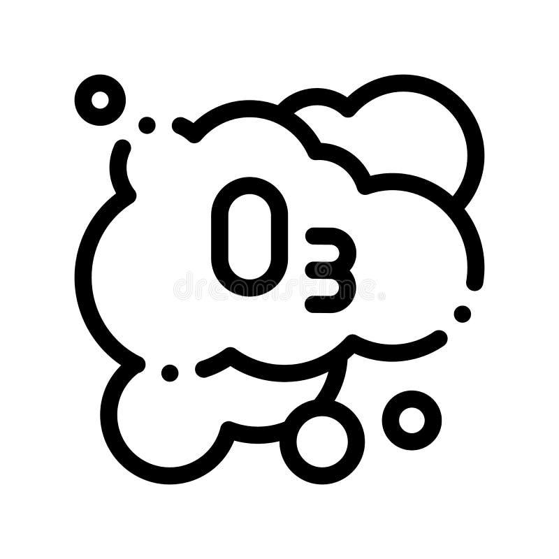 Laundry Service Ozon Foam Vector Thin Line Icon vector illustration
