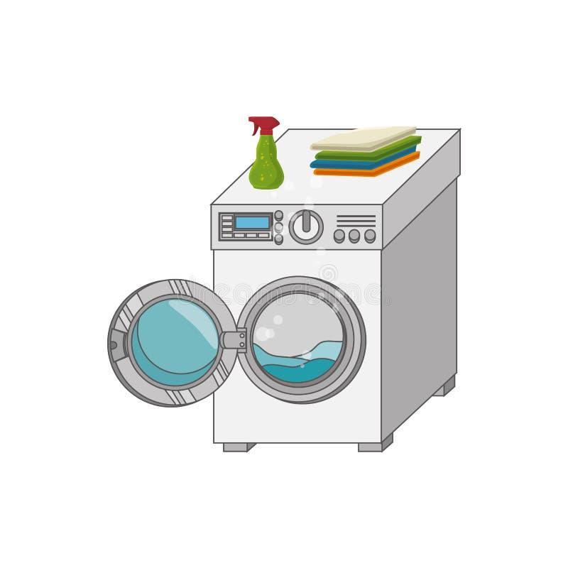 Laundry service set icons. Illustration design vector illustration
