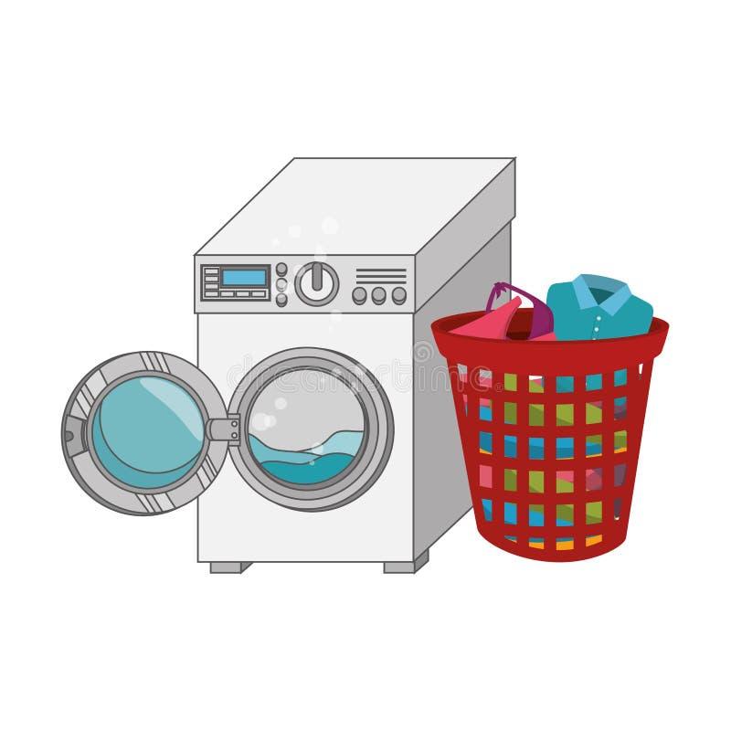 Laundry service set icons. Illustration design royalty free illustration