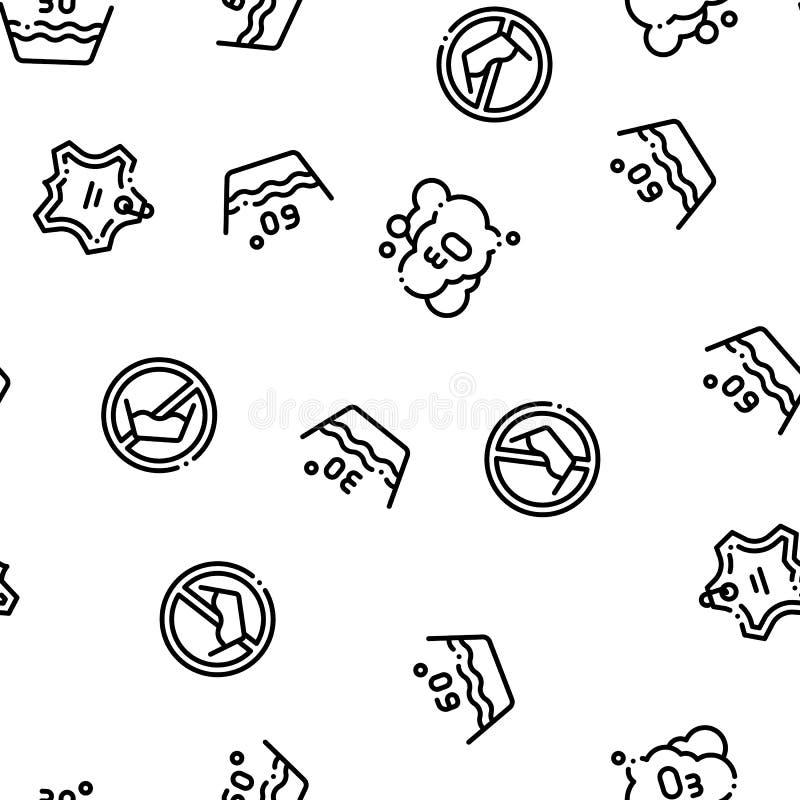 Laundry Service Vector Seamless Pattern stock illustration