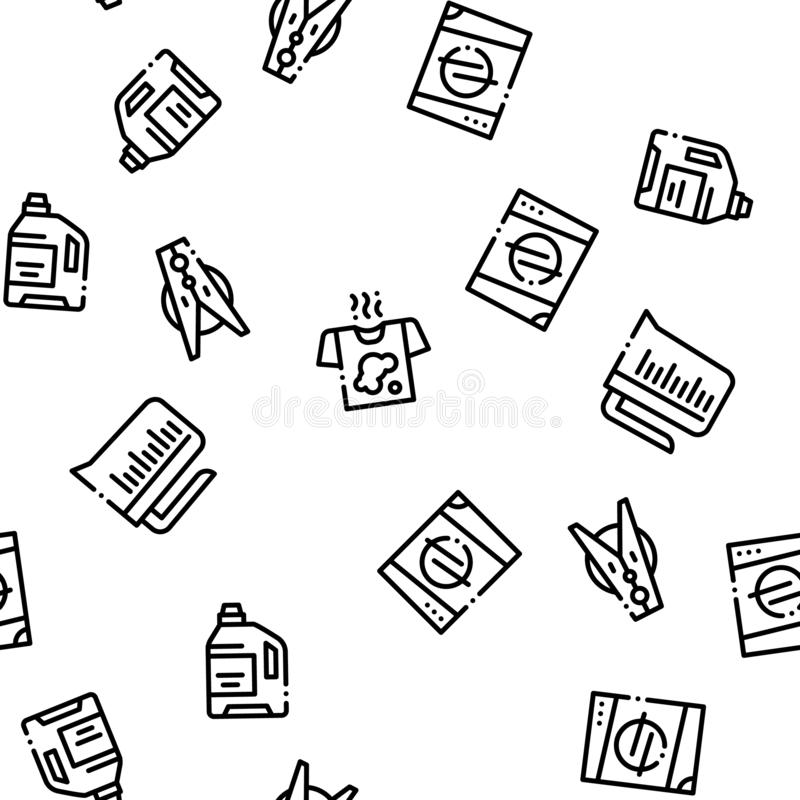 Laundry Service Vector Seamless Pattern royalty free illustration