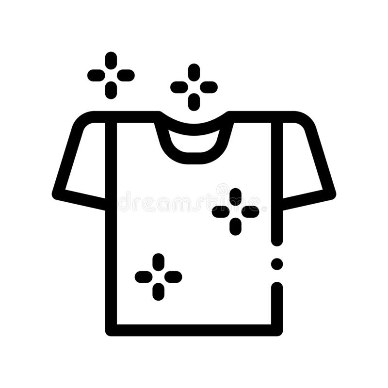 Laundry Service Washed T-shirt Vector Line Icon vector illustration