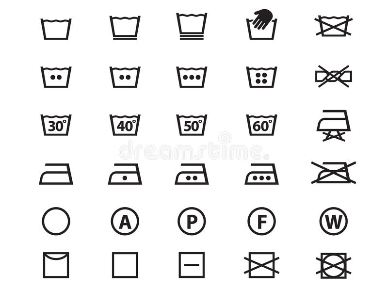 Laundry Symbols Stock Vector Illustration Of Sign Laundromat
