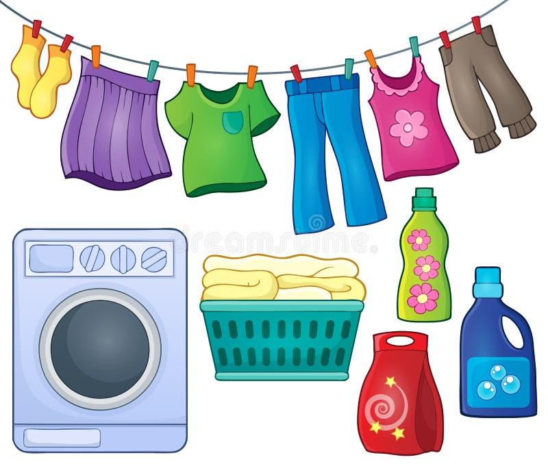 Laundry theme image 3. Eps10 vector illustration vector illustration