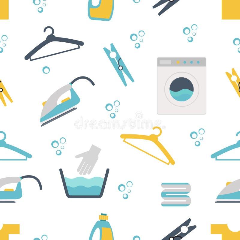 Laundry Themed Graphics royalty free illustration