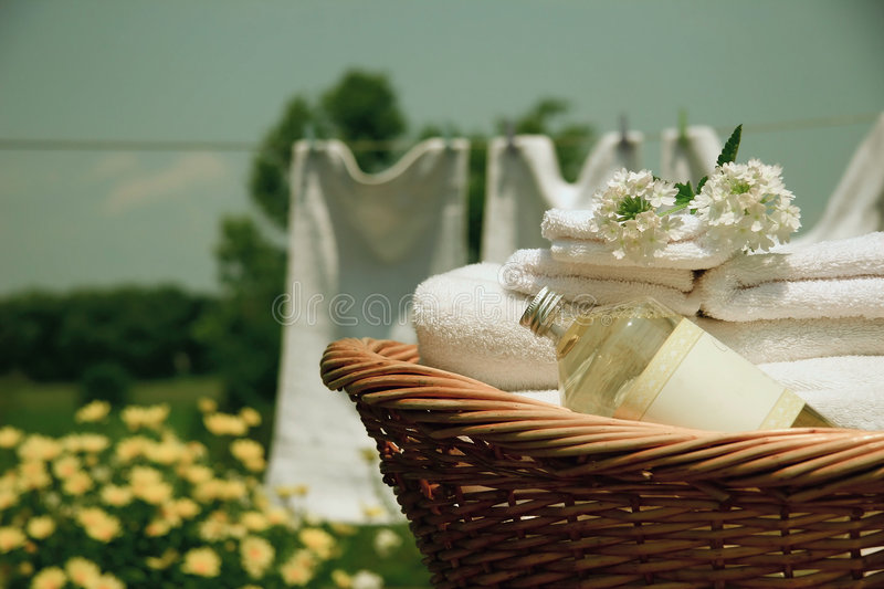 Download Laundry wash stock photo. Image of towel, drying, clothesline - 983322