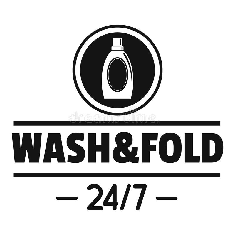 Laundry wash and fold logo, simple style vector illustration