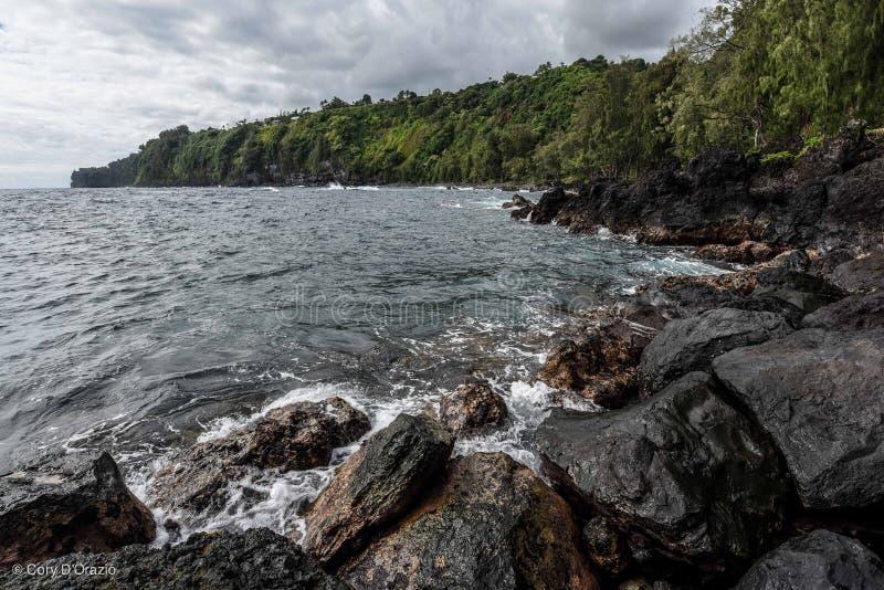 Laupahoehoe-Punkt, große Insel, Hawaii lizenzfreies stockfoto