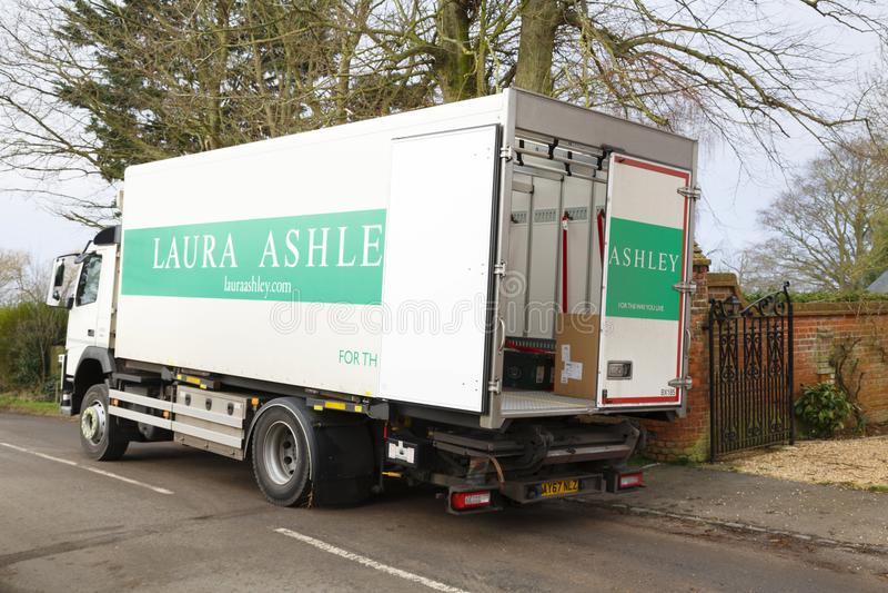 Laura Ashley dostawy ciężarówka obraz stock