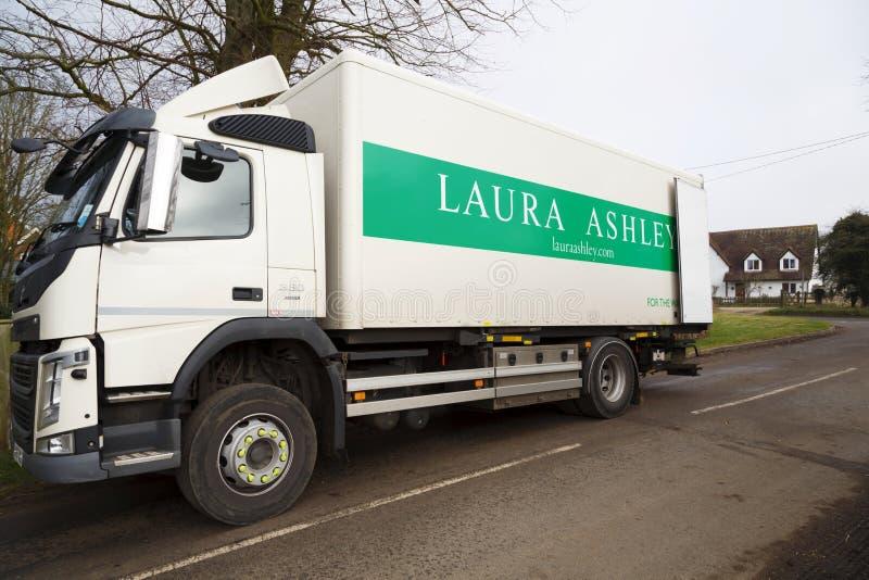 Laura Ashley-leveringsvrachtwagen stock foto