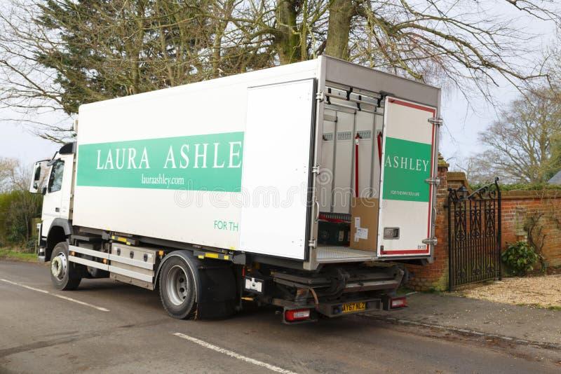 Laura Ashley-leveringsvrachtwagen stock afbeelding