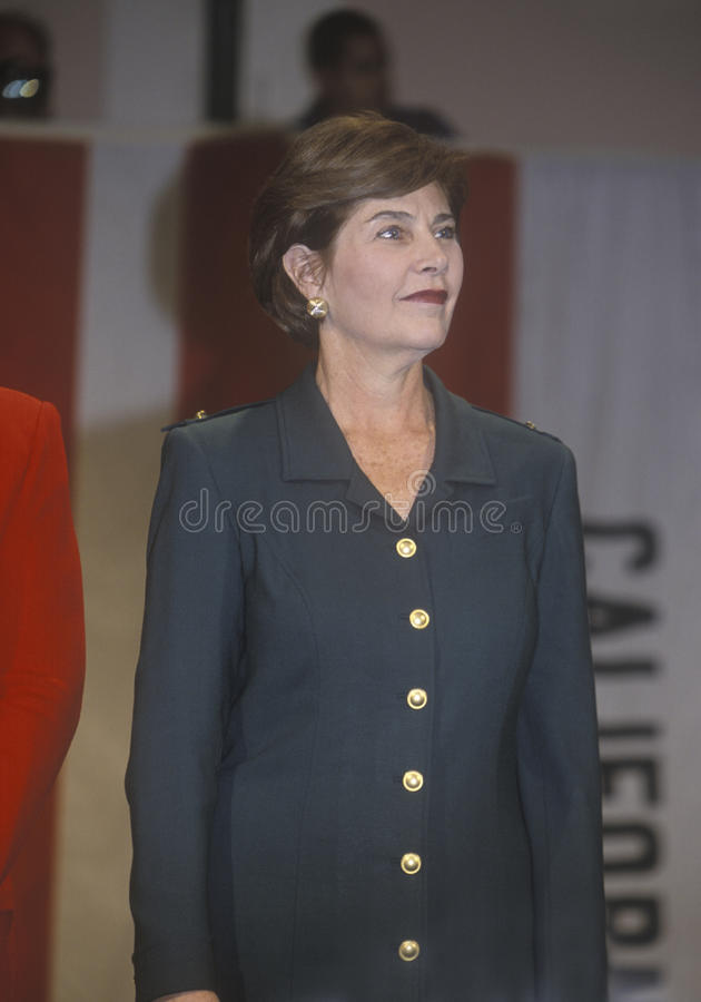 Download Laura Bush editorial photography. Image of burbank, campaigning - 26275722