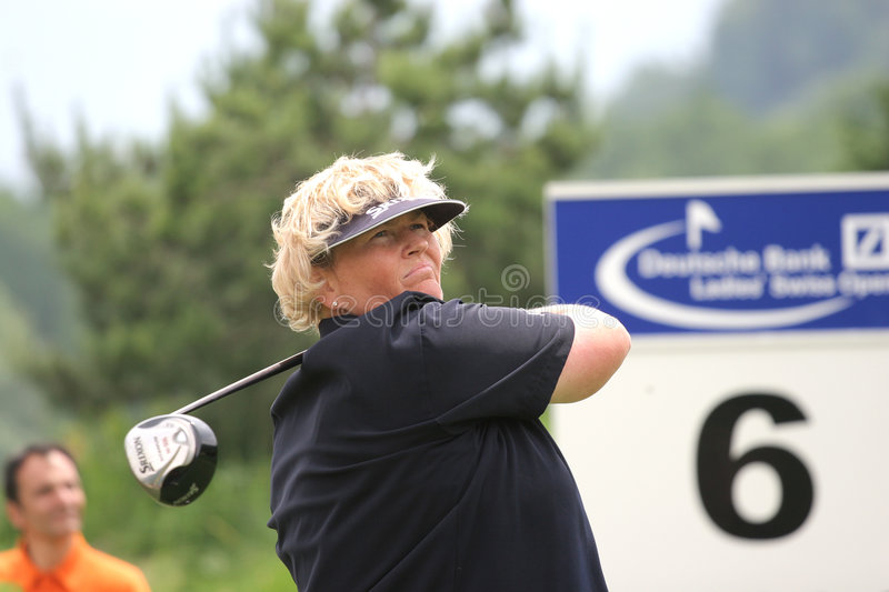 Laura Davies, Losone 2007, Golf Ladies european. Laura Davies, Losone 2007, Golf Deutschebank Ladies european tour, switzerland stock photo