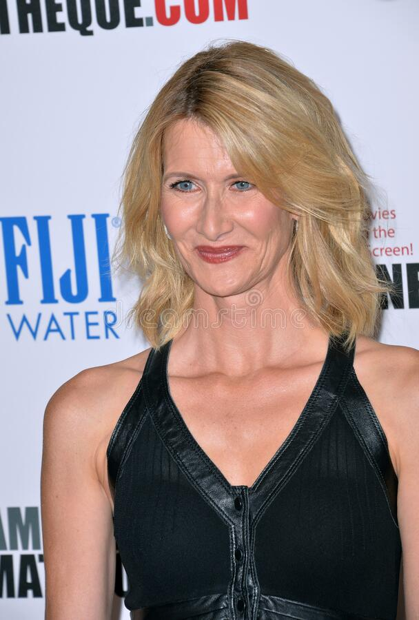 Laura Dern. LOS ANGELES, CA - OCTOBER 30, 2015: Actress Laura Dern at the American Cinematheque 2015 Award Show at the Century Plaza Hotel stock images