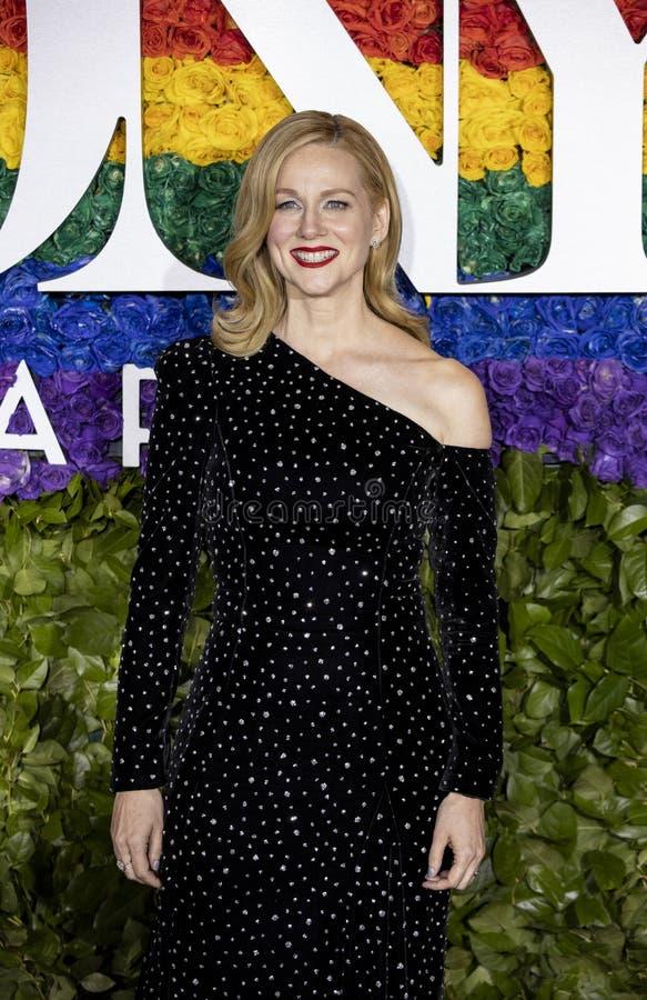 Laura Linney bij 2019 Tony Awards stock foto