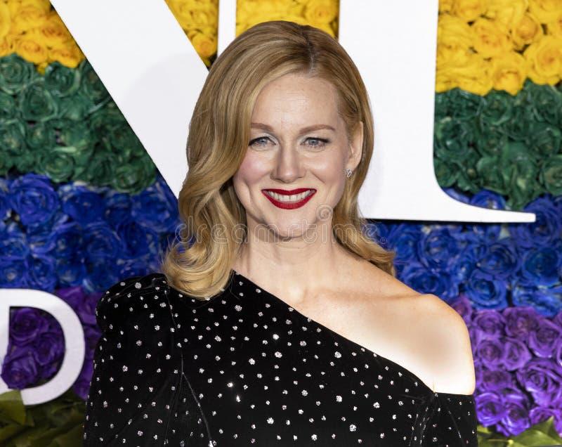 Laura Linney chez Tony Awards 2019 photographie stock libre de droits