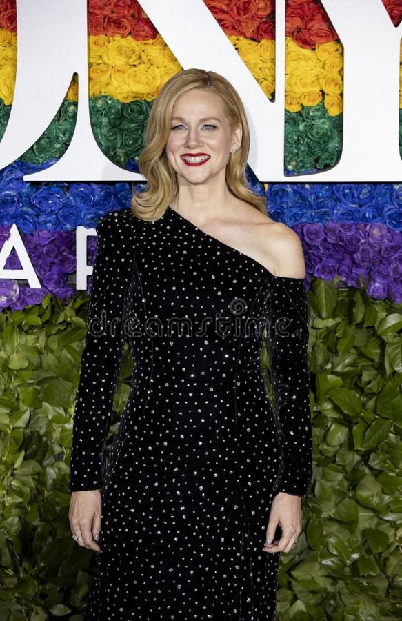 Laura Linney chez Tony Awards 2019 photo stock