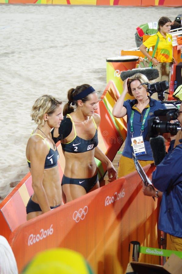 Laura Ludwig e Kira Walkenhorst a Rio2016 fotografia stock