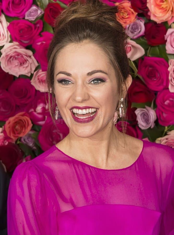 Laura Osnes em Tony Awards 2018 imagem de stock