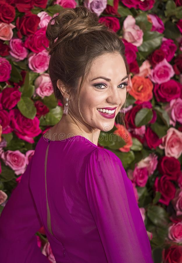 Laura Osnes på Tony Awards 2018 arkivbild