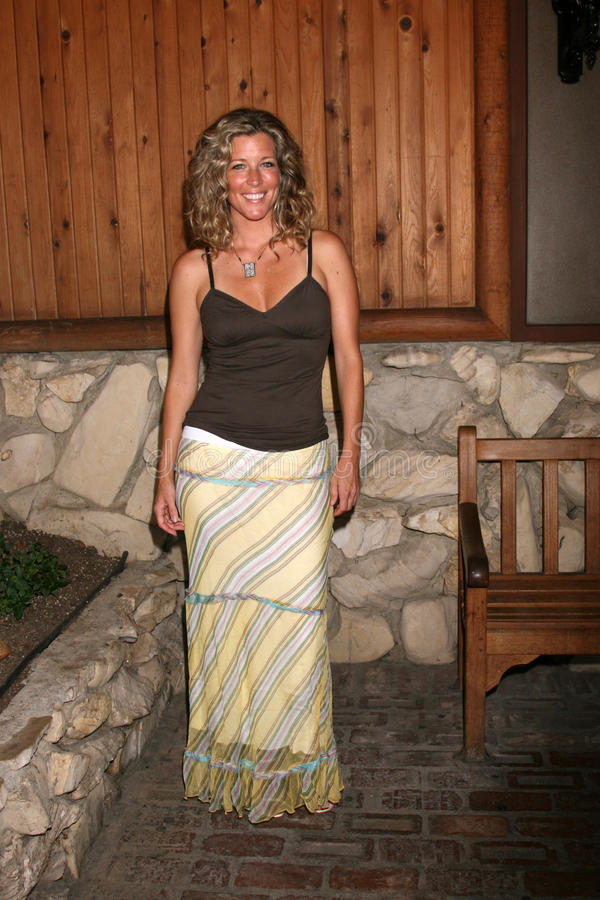 Laura Wright. Arriving at the annual General Hospital Fan Club Luncheon at the Sportsman's Lodge in Studio City, CA on July 12, 2008 stock photo