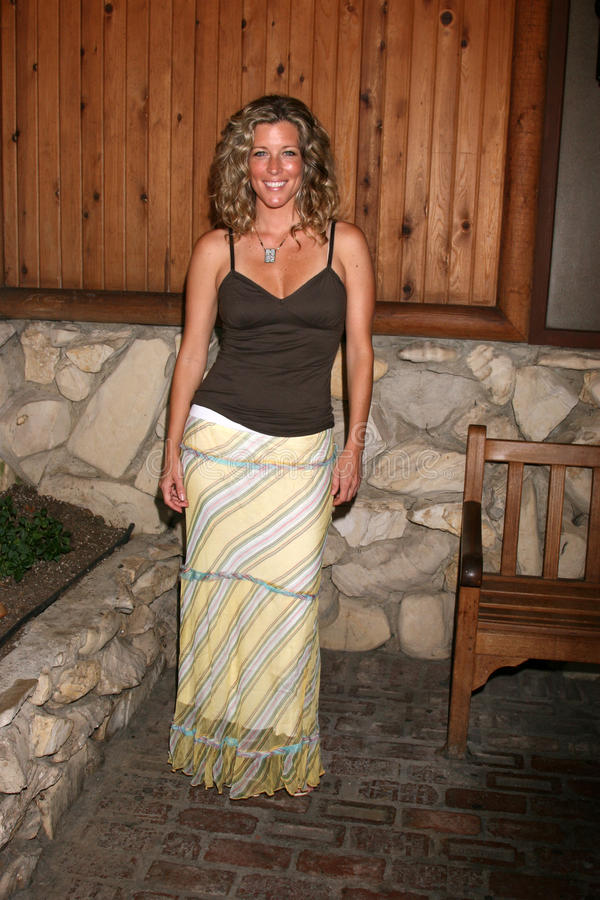 Laura Wright. Arriving at the annual General Hospital Fan Club Luncheon at the Sportsman's Lodge in Studio City, CA on July 12, 2008 royalty free stock images