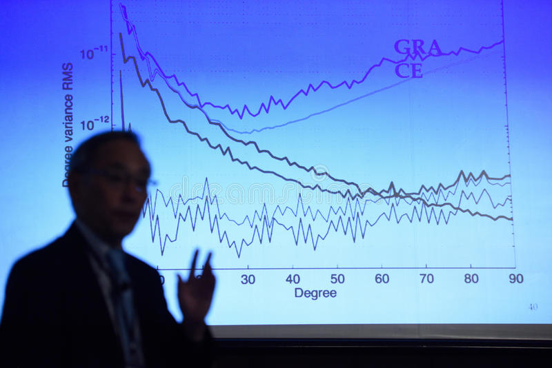 Laureado del Premio Nobel en la física Steven Chu imagen de archivo