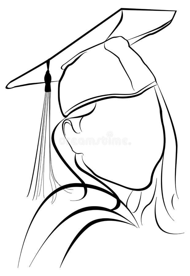 Download Laureato illustrazione di stock. Illustrazione di riga - 3142163