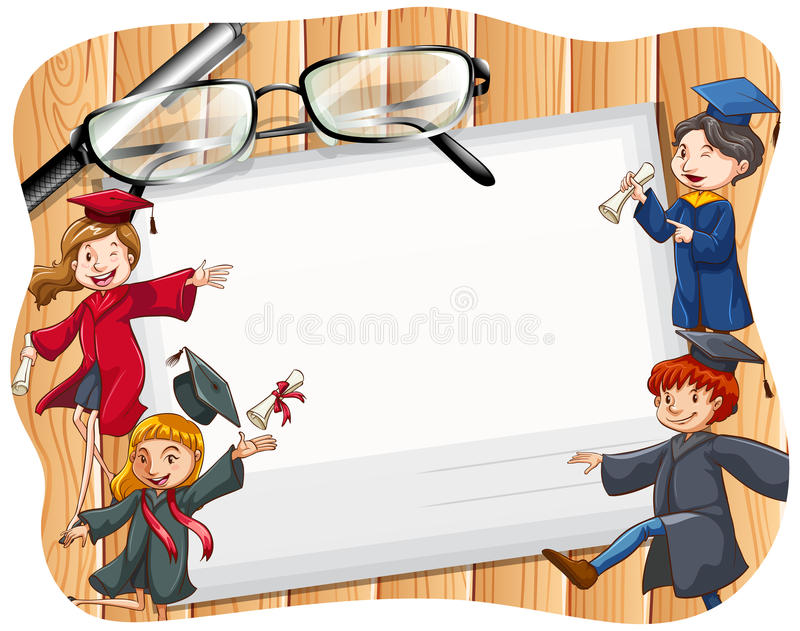 Download Laureato illustrazione vettoriale. Illustrazione di tema - 55365245