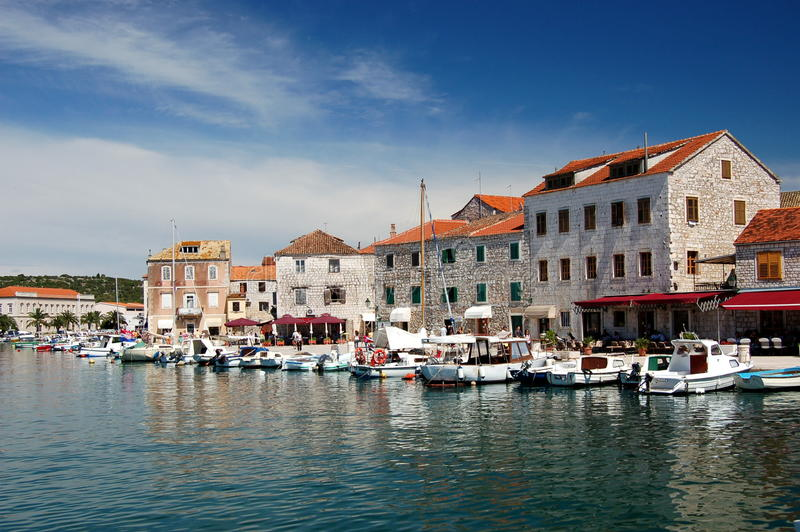Laureato su Hvar, Croatia di Stari immagini stock