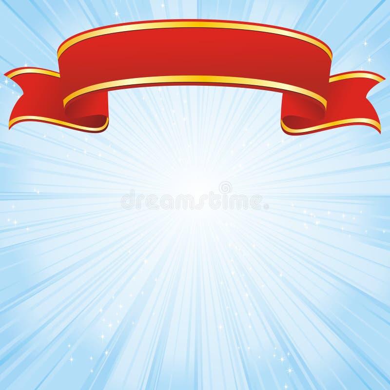Laureatusfarbband auf Streifenblauhintergrund stock abbildung