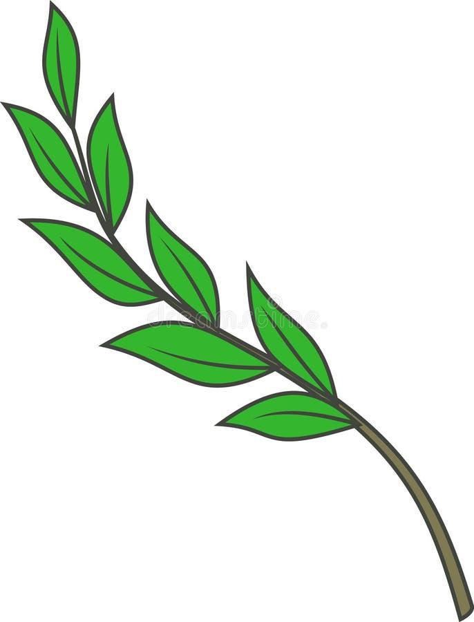 Laurel branch (Vector) stock illustration