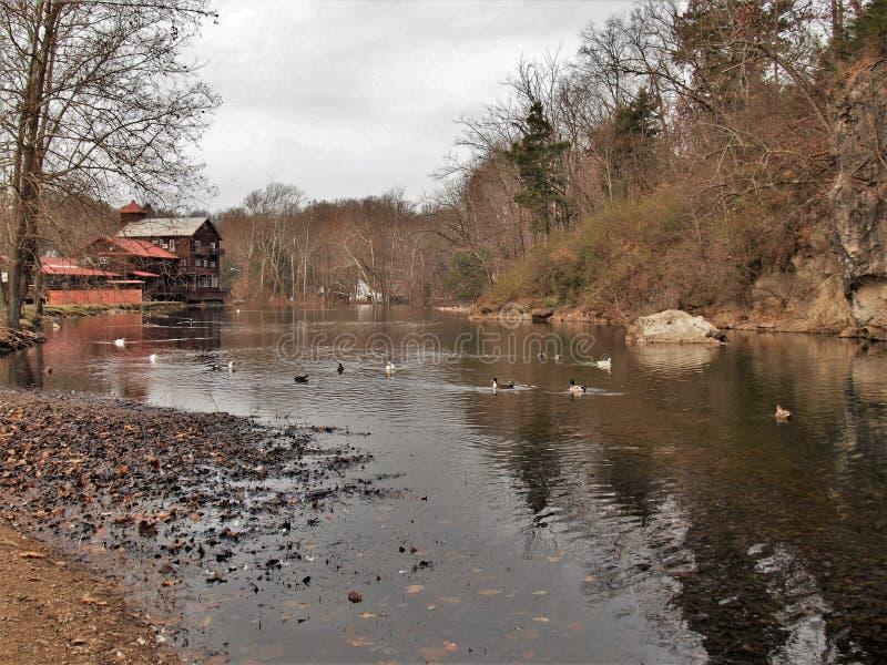 Laurel Creek à Damas la Virginie photographie stock